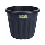 Vista 50cm Round Planter Graphite